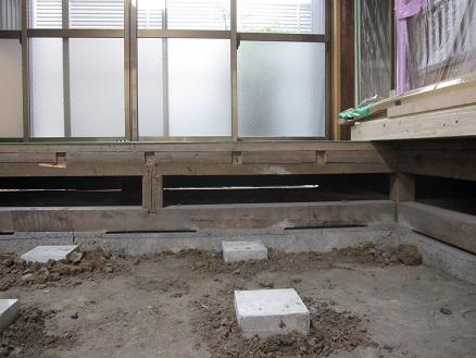 解体後の床