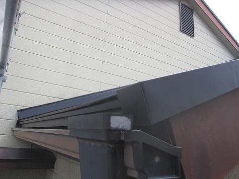 屋根端部の仕上げ