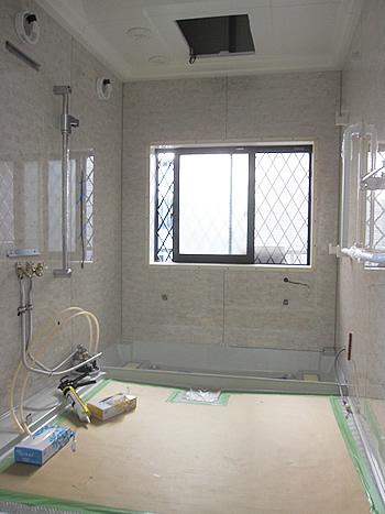 浴室リフォーム施工中