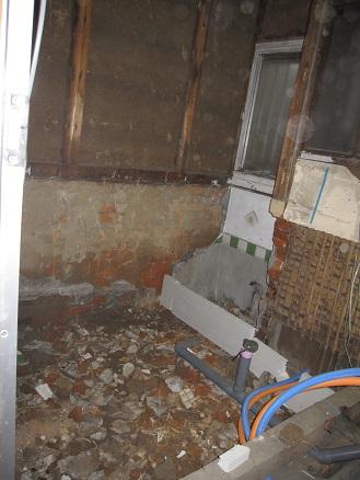 浴室の解体と配管