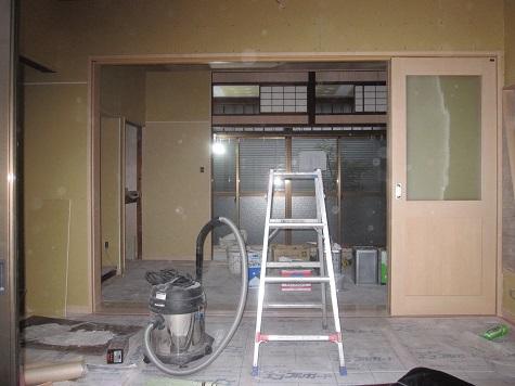 戸建てリノベーション施工中