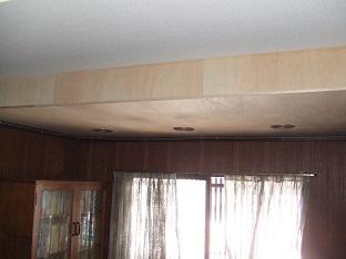 シナベニアを張った天井