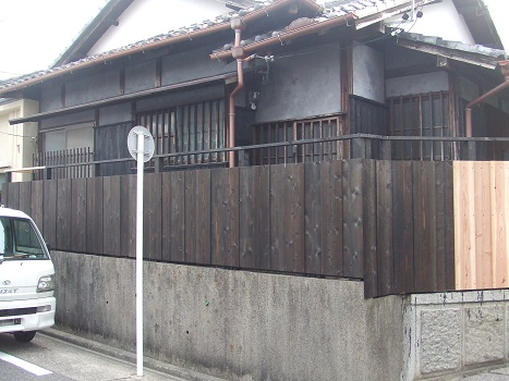 木塀塗装完了