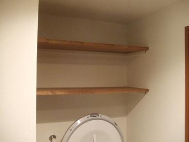 洗濯機上の棚