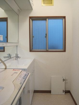 洗面の内装工事