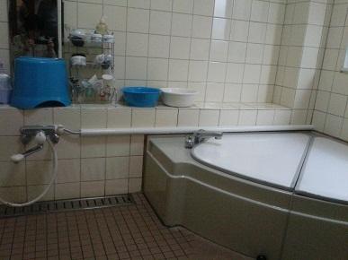洗い場側の水栓