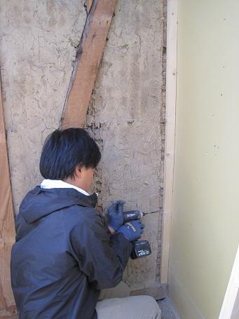 外壁の下地作り