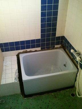 浴槽取替施工中
